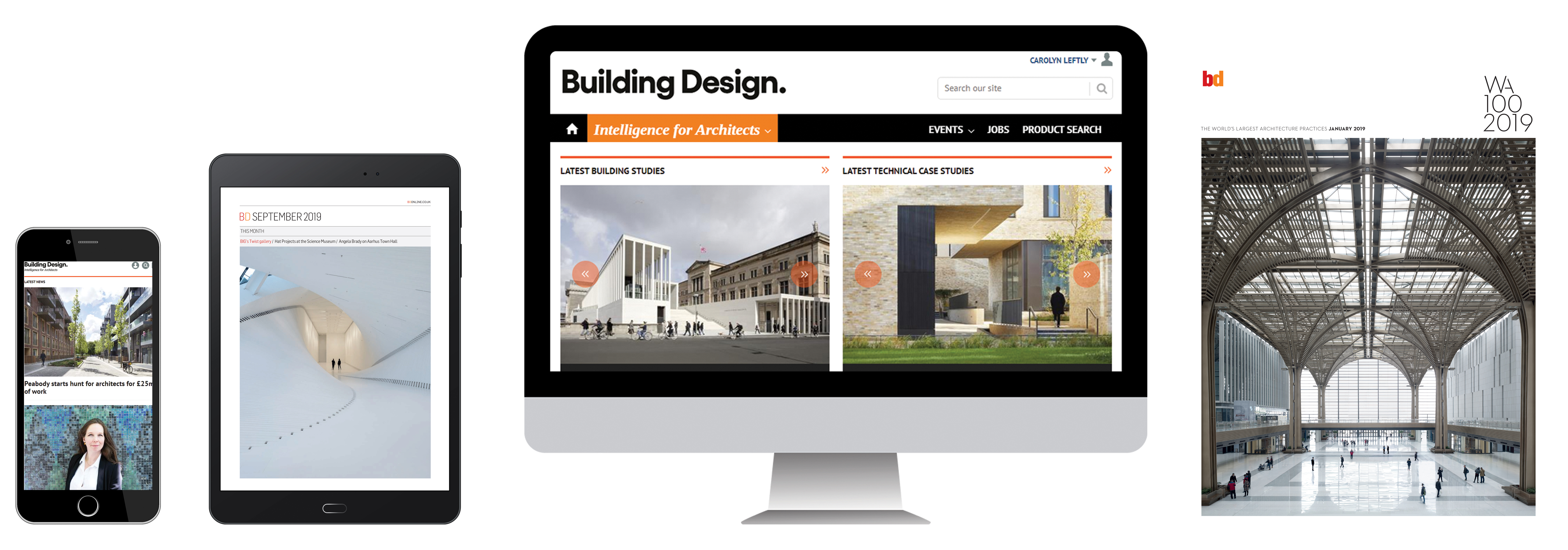 Building Design subscriptions landing page